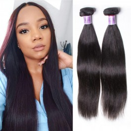 UNice Cheveux Kysiss Série 8A Brésiliens Cheveux Raides 4 Bundles Vierges Tissage des Cheveux Humains
