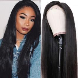 UNice Cheveux Bettyou Perruque Série 100% Cheveux Humains Doux Longue Droite 360  Dentelle chapeau  Perruque Réaliste Délié 12-28 Pouces