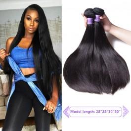 UNice Cheveux Kysiss Série 4 pcs Cheveux Raides Malaisiens 8A catégorie Vierge Extension des Cheveux Humains