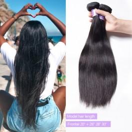 Unice Cheveux Kysiss séries raides vierges cheveux des vagues avec  fermeture frontale en dentelle