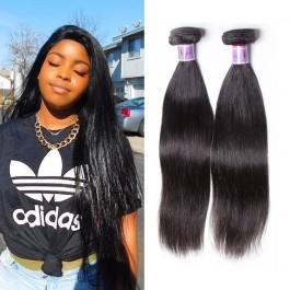 UNice Cheveux Kysiss séries 4 faisceaux non transformés droite peruviennes Vierges Cheveux Humains