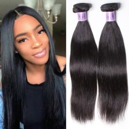 Unice Cheveux Kysiss Séries peruvienne droits cheveux 3 faisceaux traite avec fermeture en dentelle