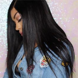 UNice Cheveux Kysiss Série Meilleure Vente Non Transformés Droites Vierges Indiennes Cheveux 4 pcs / paquet