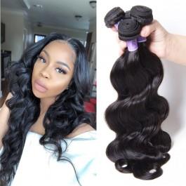 UNice Cheveux Kysiss Series 8A catégorie 100% indiens humains 3 faisceaux des vagues vierges des corps