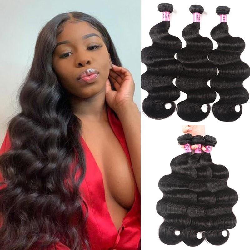 UNice cheveux Icenu Séries indien Corps Vague Cheveux Trame 3 Pcs / paquet ndiens Humains  Vierges Cheveux