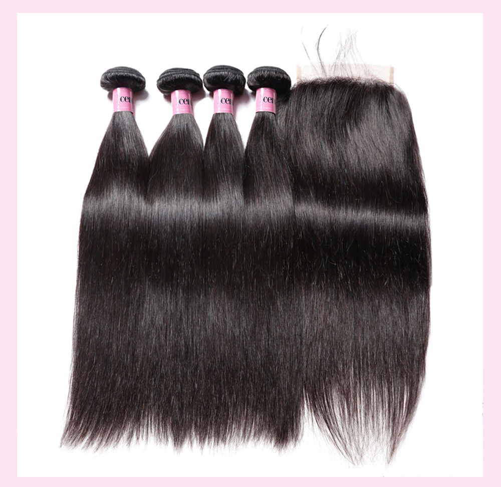 Straight Hair Weft With Closure