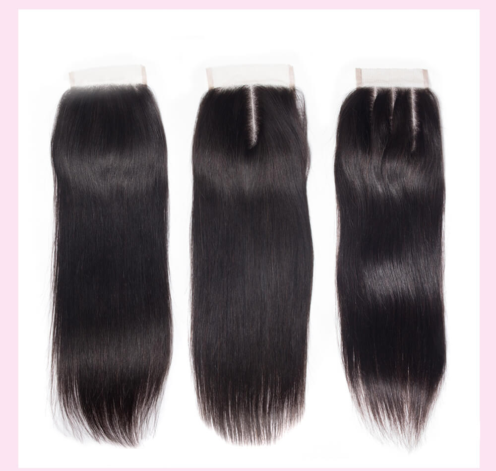 Peruvian Straight Hair Weft With Closure