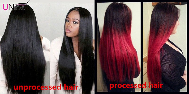 Difference between processed and unprocessed hair weaves